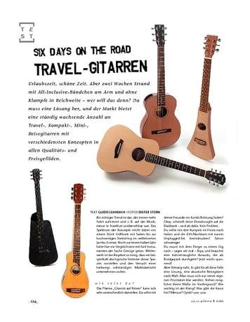 Gitarre & Bass Travel Gitarren: Six days on the road