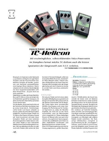 Gitarre & Bass TC Helicon VoiceTone Singles Pedale