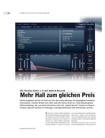 Sound & Recording VSL Vienna Suite 1.3 mit Hybrid Reverb – Effektsammlung