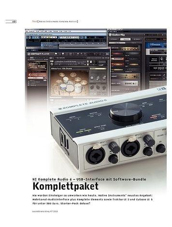 Sound & Recording NI Komplete Audio 6 – USB-Interface mit Software-Bundle