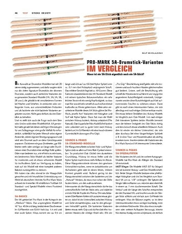 Sticks Pro-Mark 5A Sticks im Vergleich