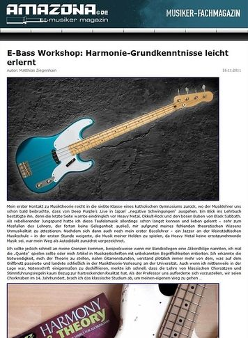 Amazona.de Workshop: Fretboard Harmony for Bass Guitar I
