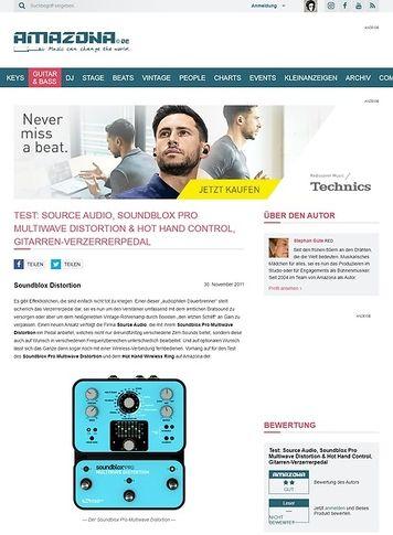 Amazona.de Test: Source Audio, Soundblox Pro Multiwave Distortion & Hot Hand Control, Gitarren-Verzerrerpedal