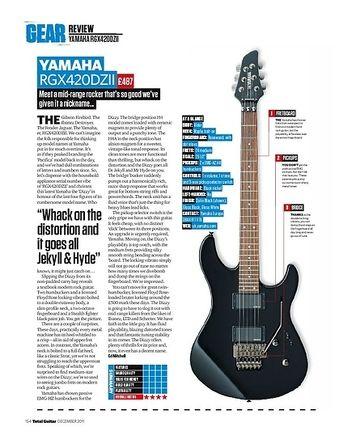 Total Guitar YAMAHA RGX420DZII
