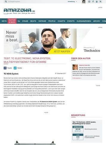 Amazona.de Test: TC Electronic, NOVA System, Multieffektgerät für Gitarre