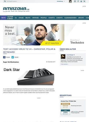 Amazona.de Access Virus TI2 V4 - Darkstar