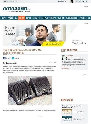 Amazona.de Test: Seeburg acoustic line, M3, Bühnenmonitore
