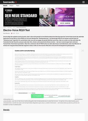 Bonedo.de Electro-Voice RE20