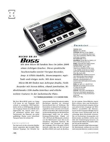 Gitarre & Bass Boss Micro BR-80, Recorder