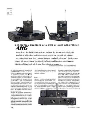 Gitarre & Bass AKG Perception Wireless 45 & WMS 40 Mini UHF-Systeme