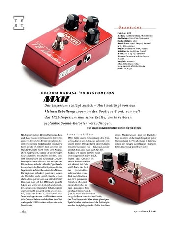 Gitarre & Bass MXR Badass Custom '78 Distortion, Gitarren-FX