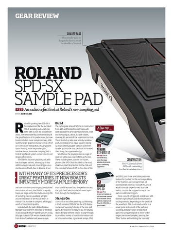 Rhythm ROLAND SPD SX SAMPLE PAD