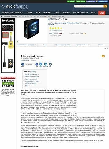 Audiofanzine.com MOTU MachFive 3