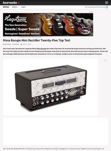 Bonedo.de Mesa Boogie Mini Rectifier Twenty-Five Top