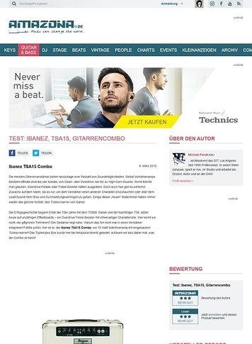 Amazona.de Test: Ibanez, TSA15, Gitarrencombo