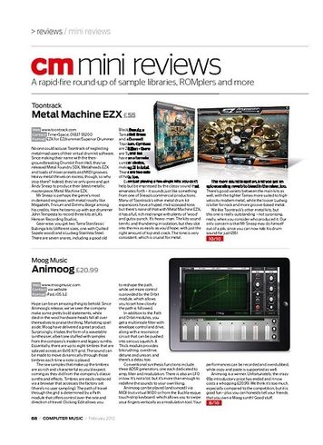 Computer Music Toontrack Metal Machine EZX