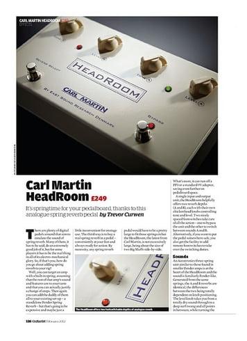 Guitarist Carl Martin HeadRoom