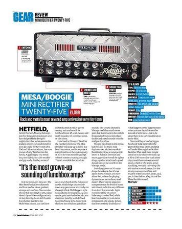 Total Guitar MESA/BOOGIE MINI RECTIFIER TWENTY-FIVE