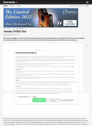 Bonedo.de Yamaha THR10