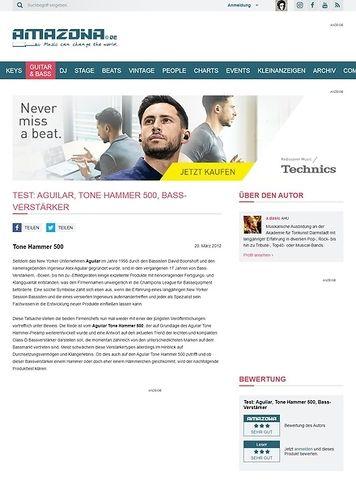 Amazona.de Test: Aguilar, Tone Hammer 500, Bass-Verstärker