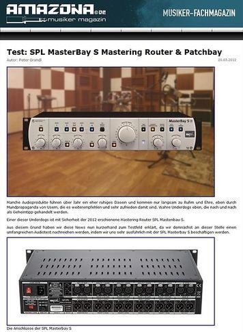 Amazona.de Top News: SPL Analog Elemental Series, MasterBay S - The S-Class Patchbay