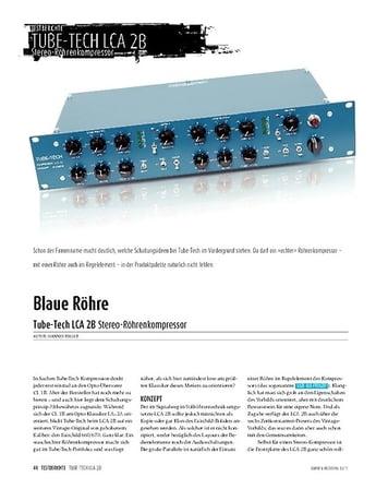 Sound & Recording Tube-Tech LCA 2B: Stereo-Röhrenkompressor