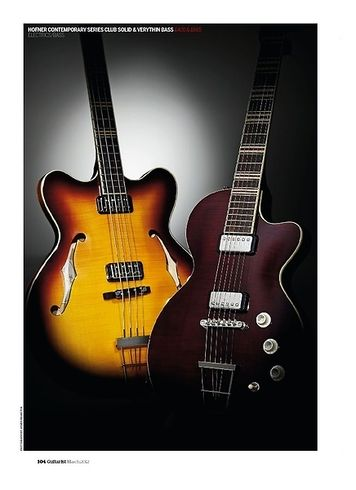 Guitarist Hofner Contemporary Series Verythin Bass