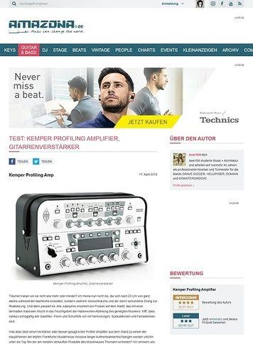 Amazona.de Test: Kemper Profiling Amplifier, Gitarrenverstärker