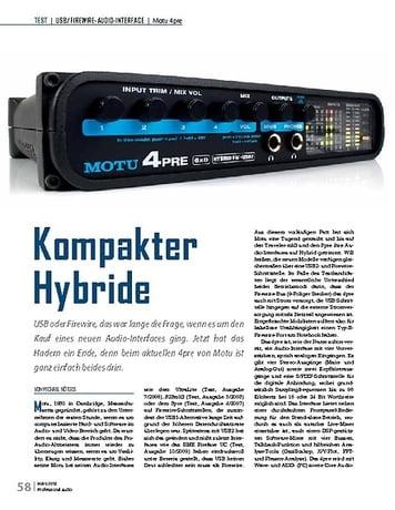 Professional Audio Motu 4pre Kompakter Hybride