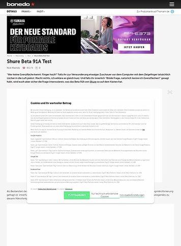 Bonedo.de Shure Beta 91A