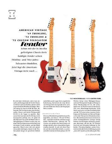 Gitarre & Bass Fender American Vintage '69 Thinline, '72 Thinline & '72 Custom Telecaster