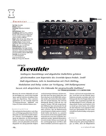 Gitarre & Bass Eventide Space, FX-Pedal