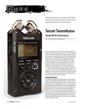 Sound & Recording Tascam DR-40: Aufnahmegerät