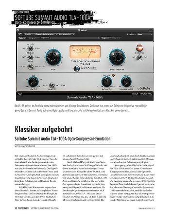 Sound & Recording Softube Summit Audio TLA_100A: Opto-Kompressor-Emulation