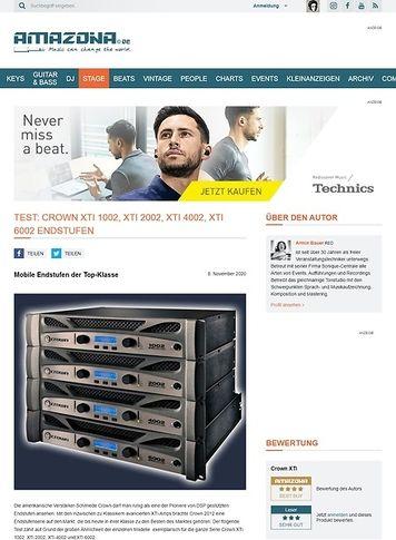 Amazona.de Test: Crown, XTi 4002, Amplifier mit DSP