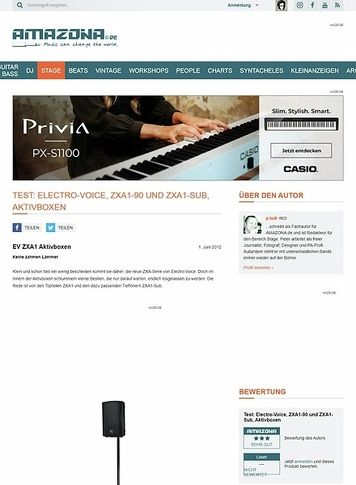 Amazona.de Test: Electro-Voice, ZXA1-90 und ZXA1-Sub, Aktivboxen