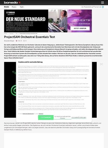Bonedo.de ProjectSAM Orchestral Essentials