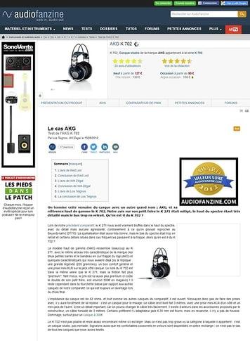Audiofanzine.com AKG K 702