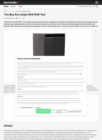 Bonedo.de The Box Pro Achat 404 PAM