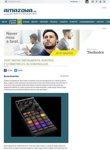 Amazona.de Test: Native Instruments, KONTROL F1+Traktor 2.5, DJ Controller