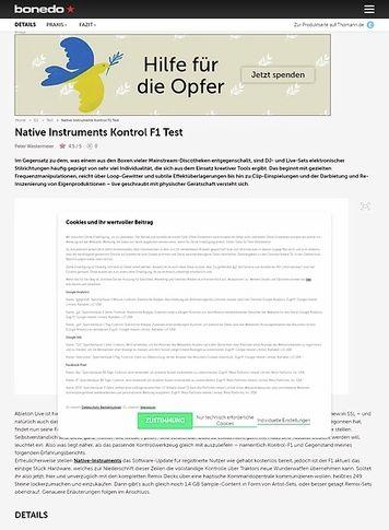 Bonedo.de Native Instruments Kontrol F1