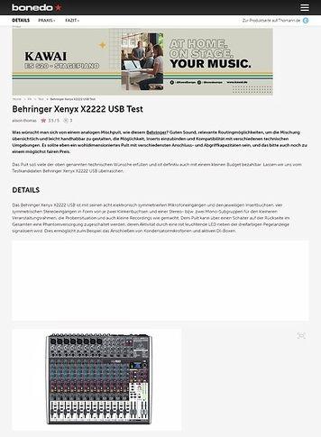 Bonedo.de Behringer Xenyx X2222 USB