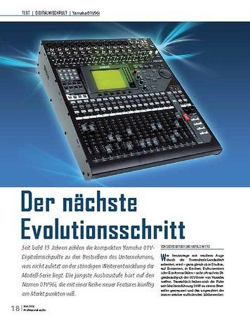 Professional Audio Der nächste Evolutionsschritt Yamaha 01V96i