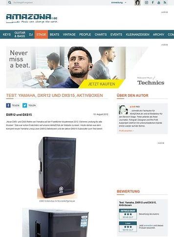 Amazona.de Test: Yamaha, DXR12 und DXS15, Aktivboxen