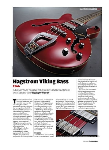 Guitarist Hagstrom Viking Bass