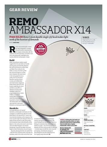 Rhythm REMO AMBASSADOR X14