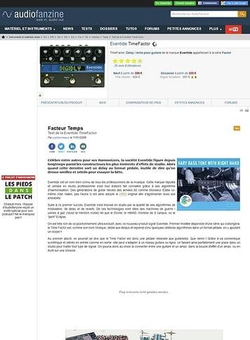 Audiofanzine.com Eventide TimeFactor