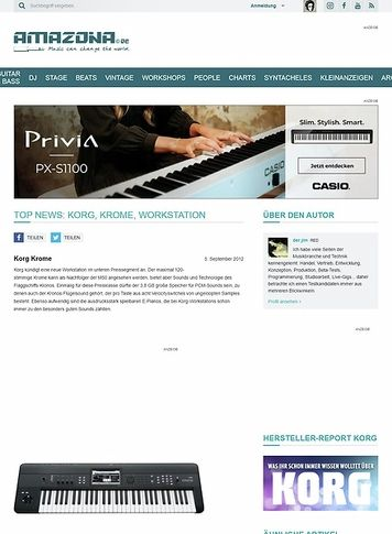 Amazona.de Top News: Korg, Krome, Workstation