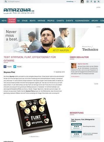 Amazona.de Test: Strymon, Flint, Effektgerät für Gitarre