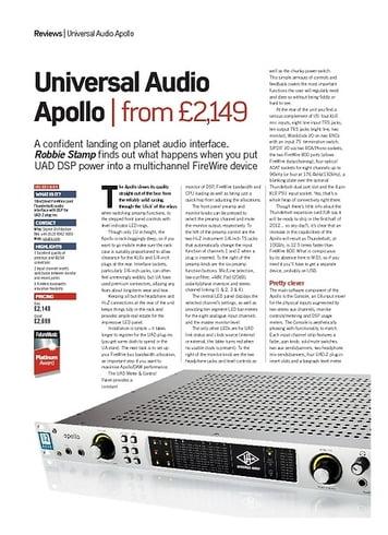 Universal Audio Apollo Quad Firewire – Thomann UK
